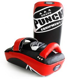 Muay Thai Pad Curved Red Black
