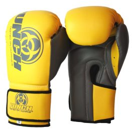 Urban Boxing Gloves Yellow Grey