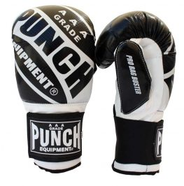 Pro Boxing Bag Gloves Black White