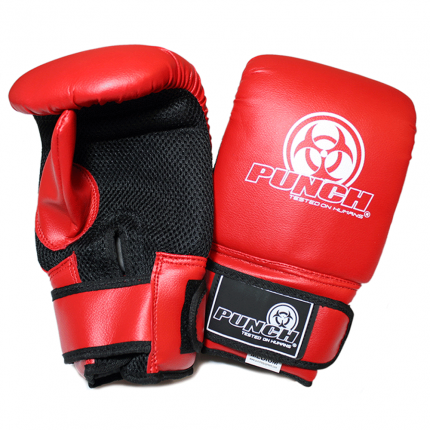 Boxing Bag Mitts Red Punch