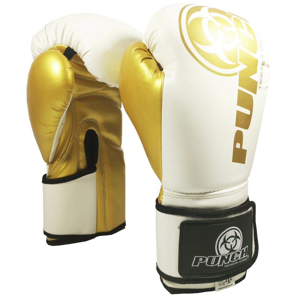 Urban Boxing Gloves White Gold