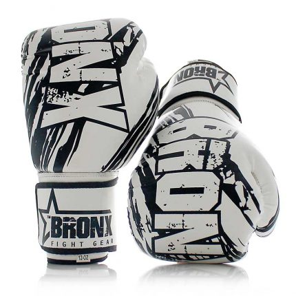 Bronx Boxing Gloves White Black