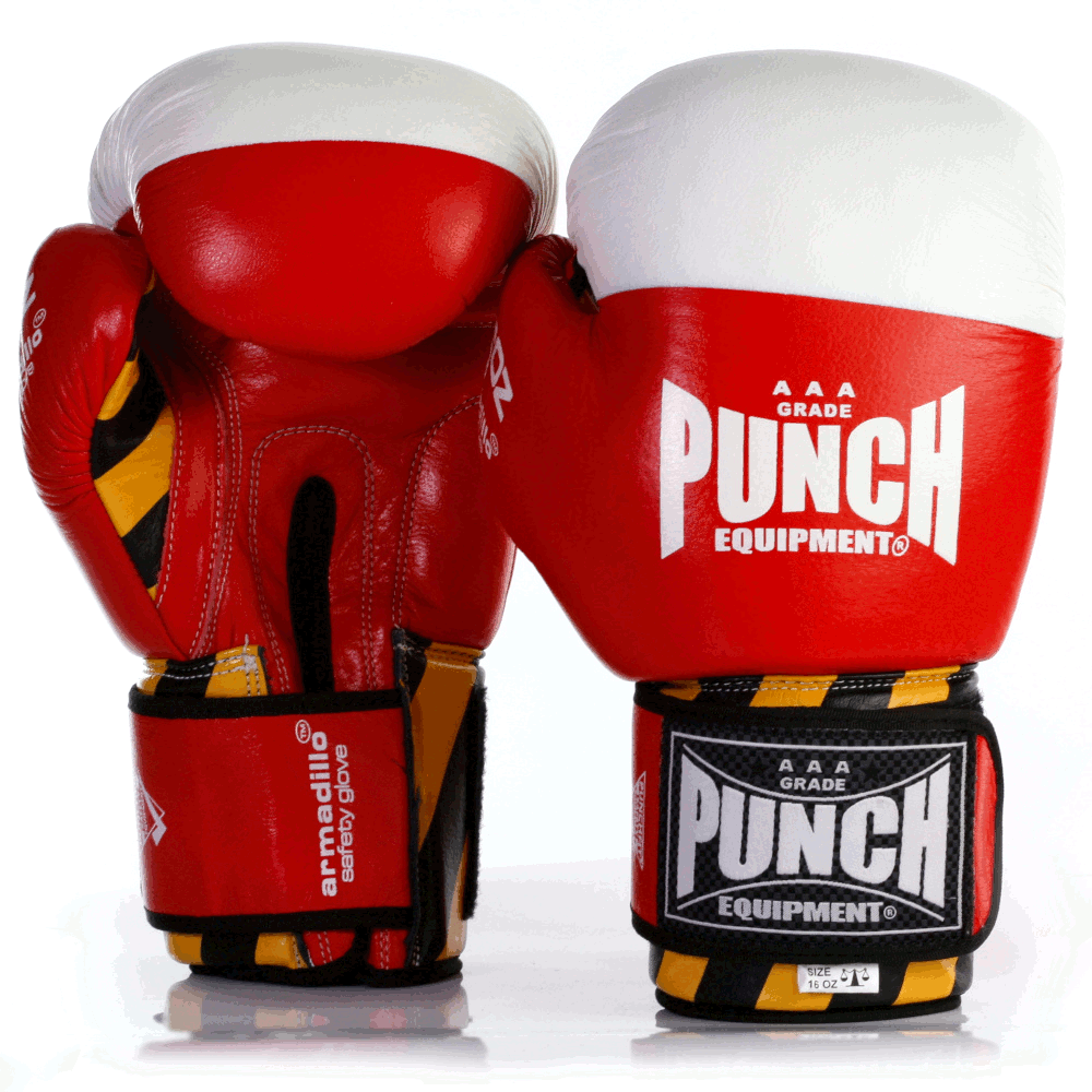 Red Armadillo Boxing Gloves 16oz Red 2 2021