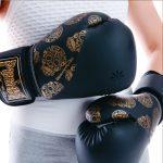 Black Gold Skull Boxing Gloves