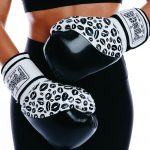 Boxing Gloves for Women Black White