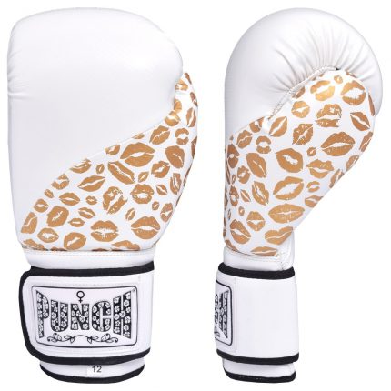 Lip Art Gold White Boxing Gloves