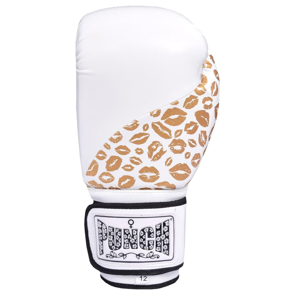 Gold White Womens Boxing Gloves