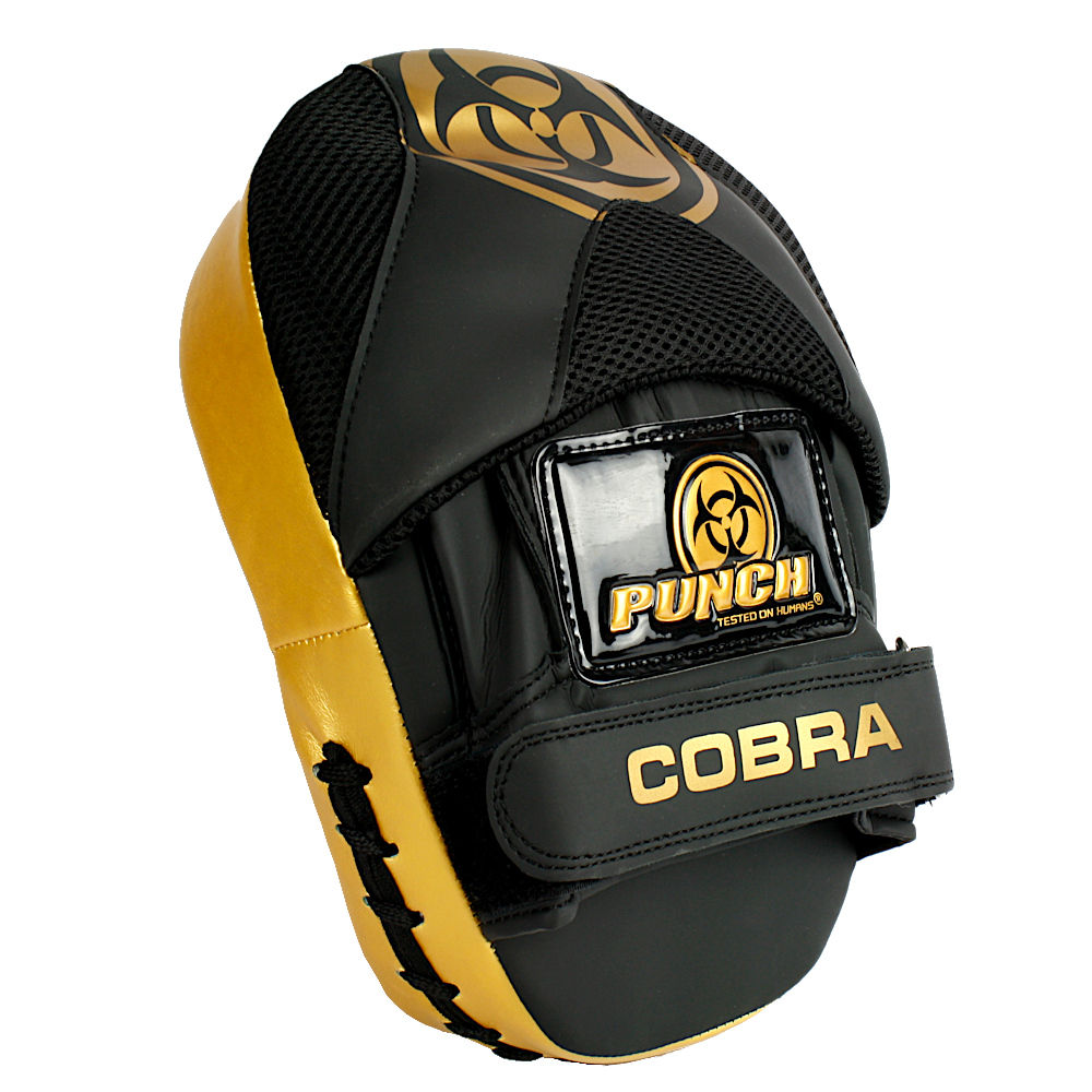 Read hand side of the Urban Cobra Focus Pads in black and gold