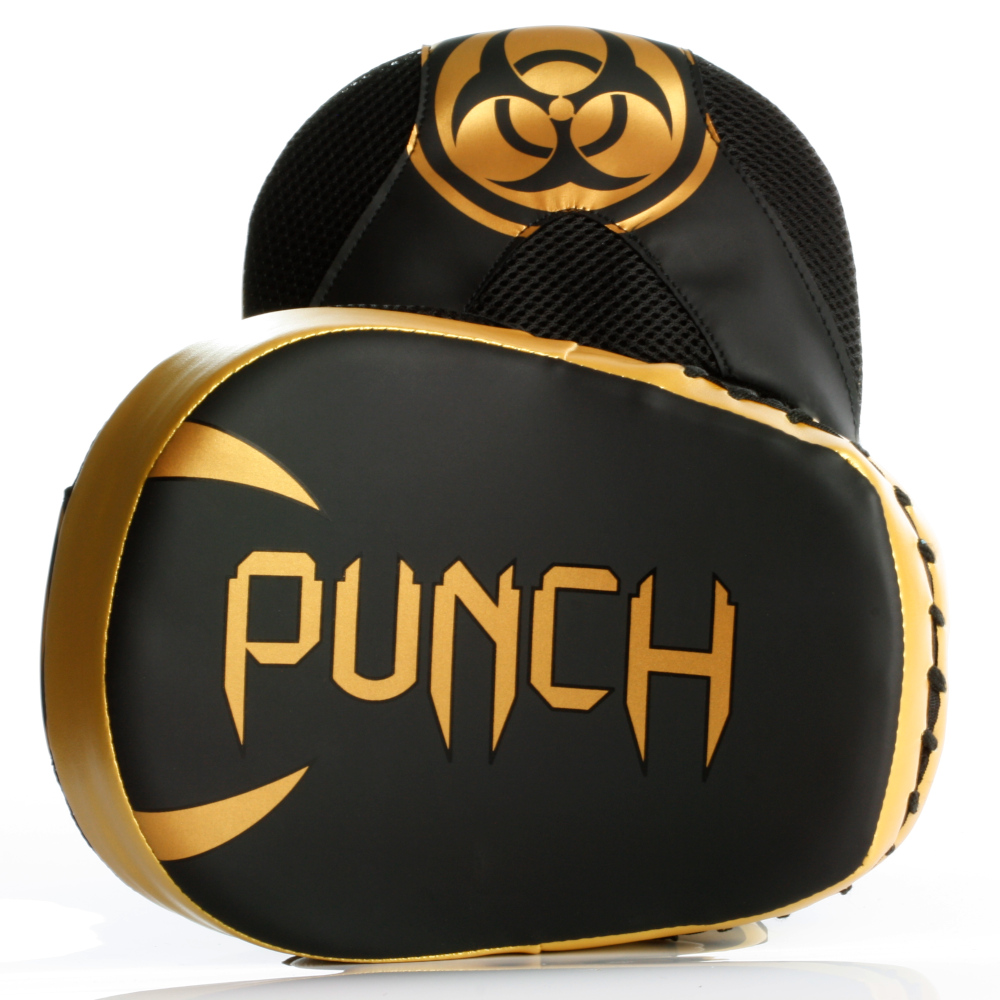Target face of the Urban Cobra Focus Pads in black and gold