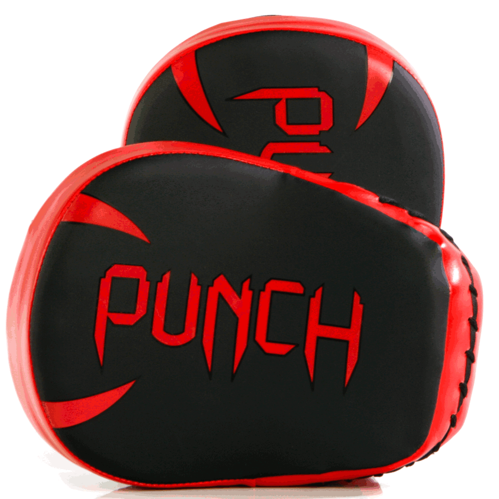 Style shot of the Urban Cobra Focus Pads in black and red