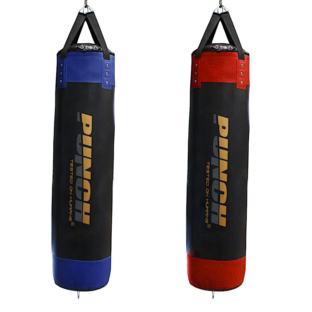 Blue & Red Empty Boxing Bags