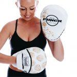 Womens Focus Pads White Gold Skull 2