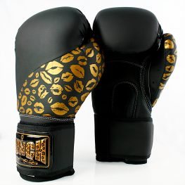 Black Gold Boxing Gloves
