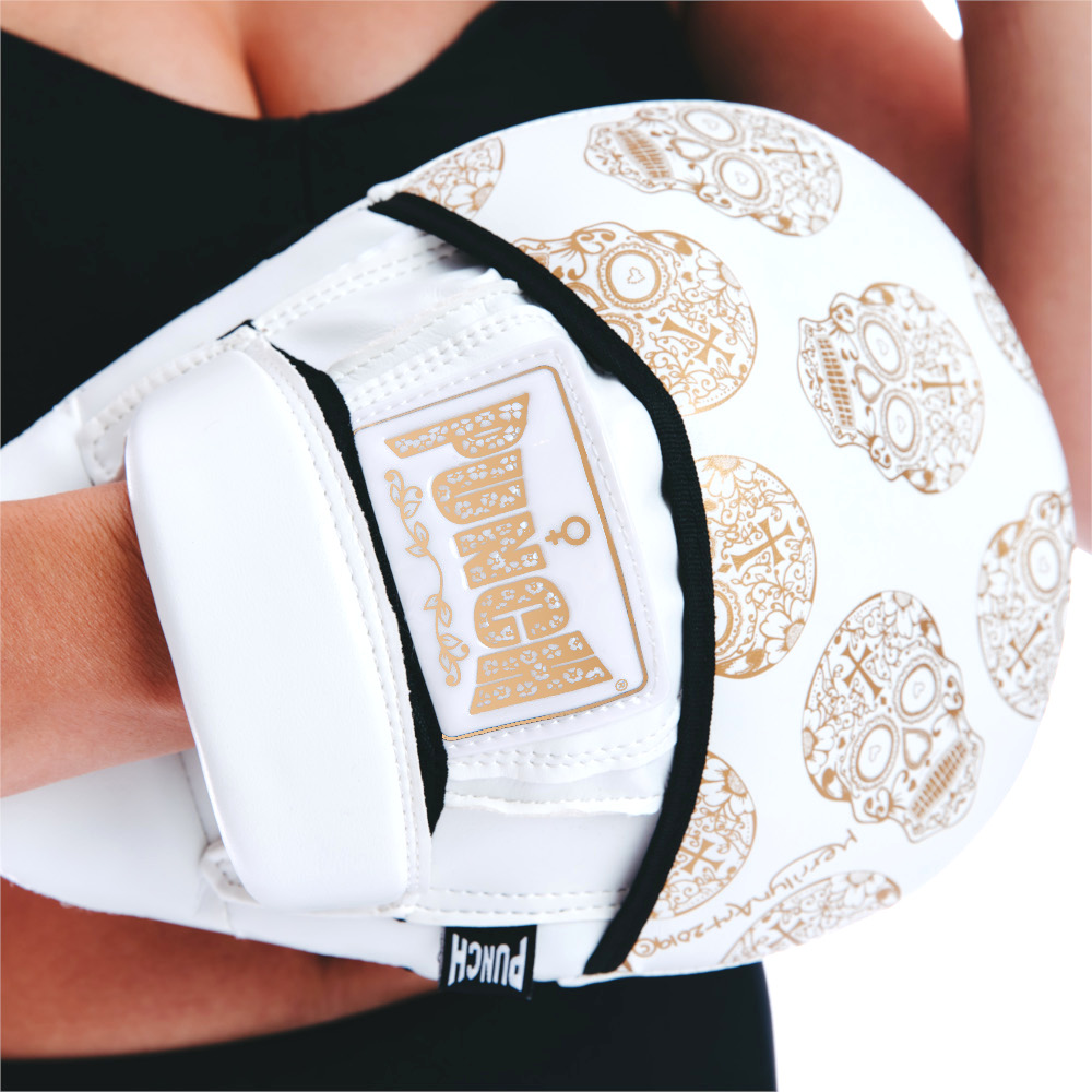 Womens Focus Pads White Gold Skull 1 V2