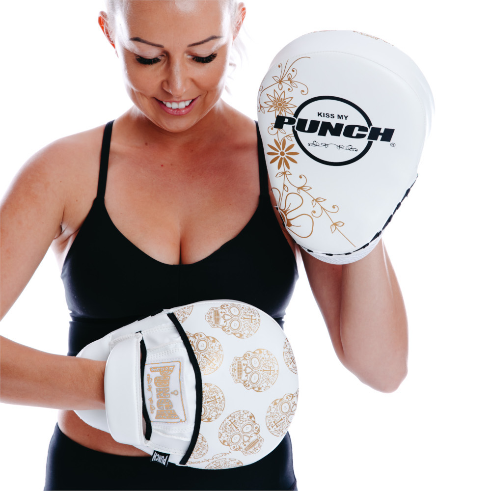 Womens Focus Pads White Gold Skull 2 V2