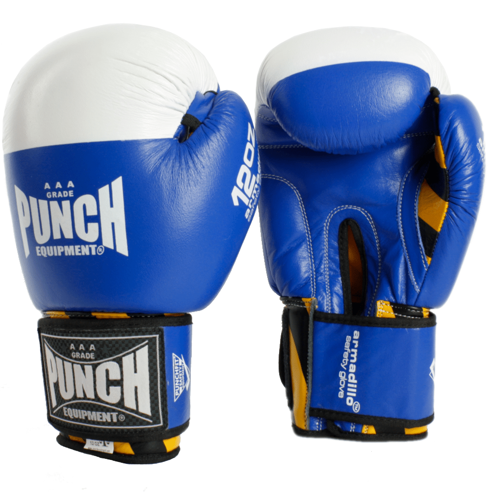 Blue Armadillo Boxing Gloves