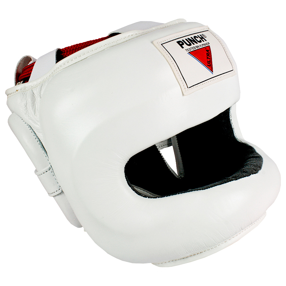 Punch Boxing Ultra Facesaver Headgear White2