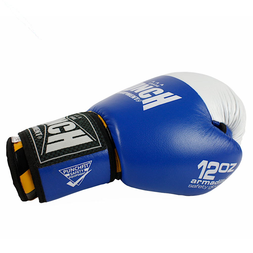 Side Blue Armadillo Boxing Gloves