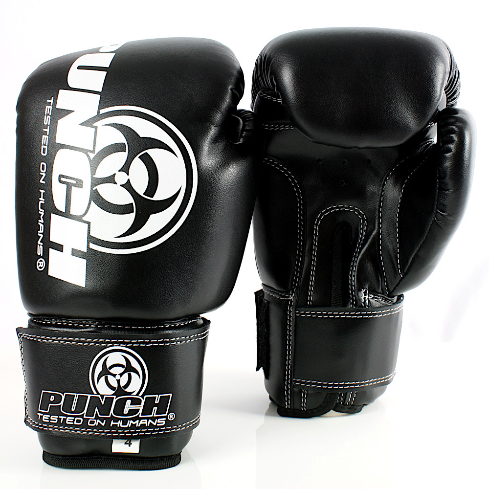 4oz Junior Black Boxing Glove
