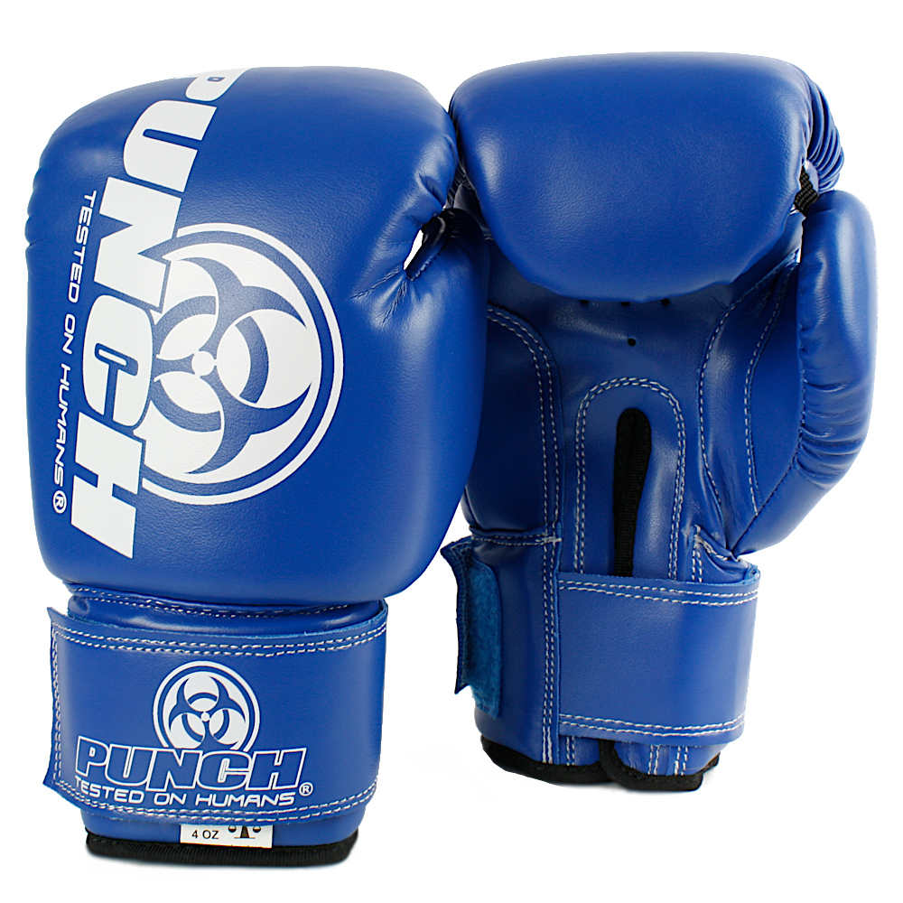 4oz kids boxing gloves blue