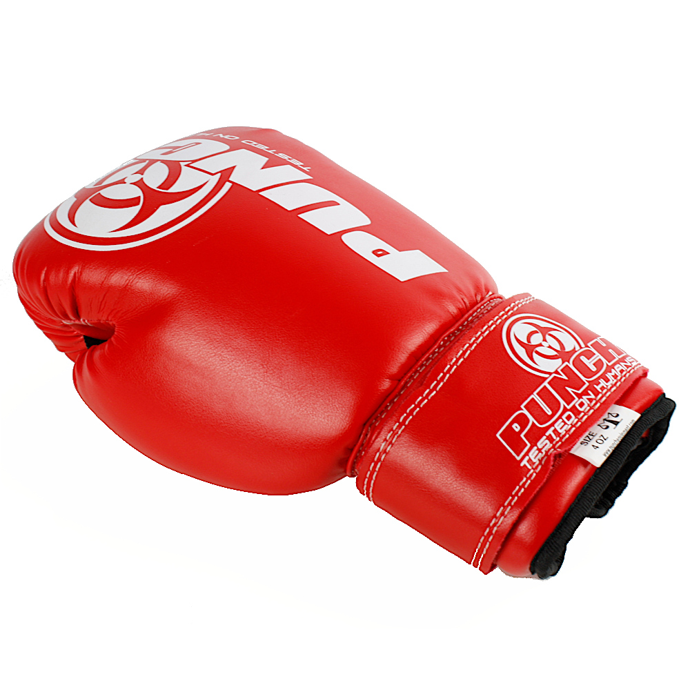 4oz Kids Boxing Gloves Red 3