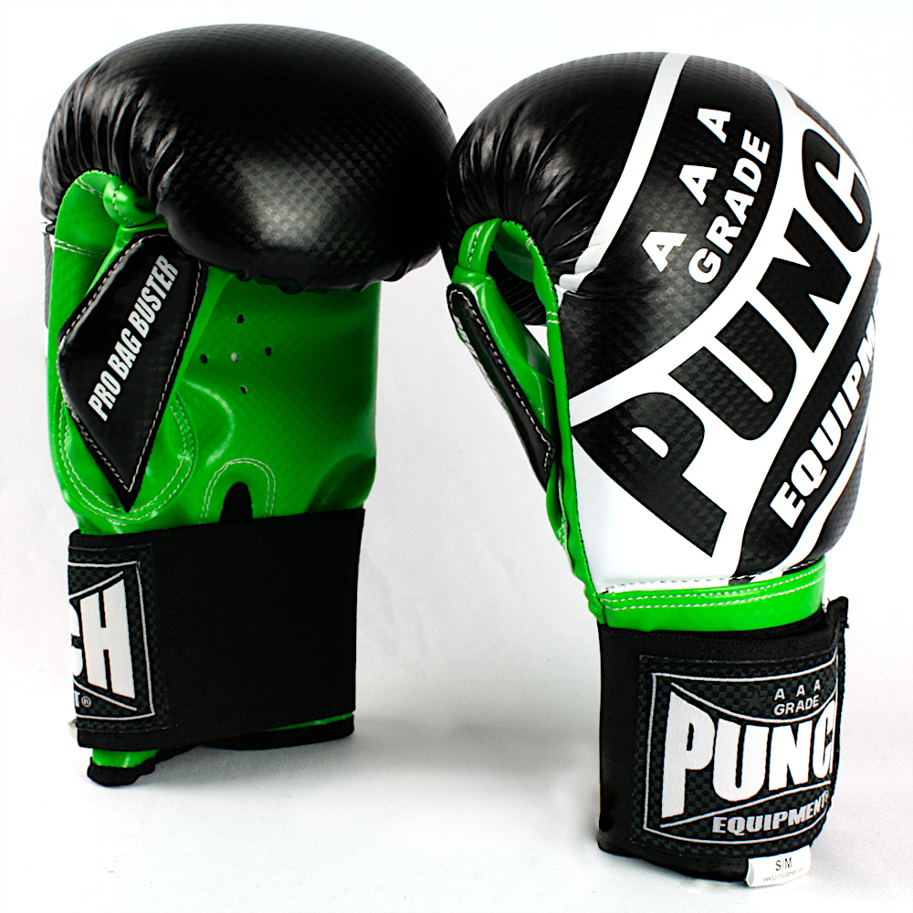 Pro Bag Busters Boxing Mitts Black Green 1