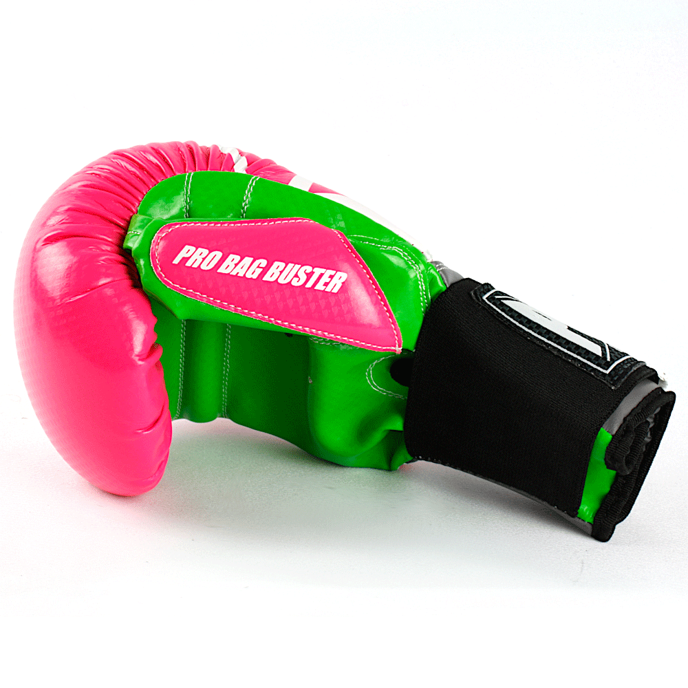 Pro Bag Busters Boxing Mitts Pink Green 1