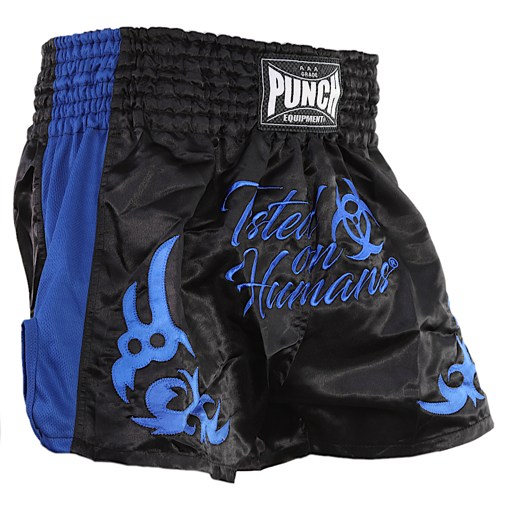 Blue Tested On Humans Thai Shorts 4