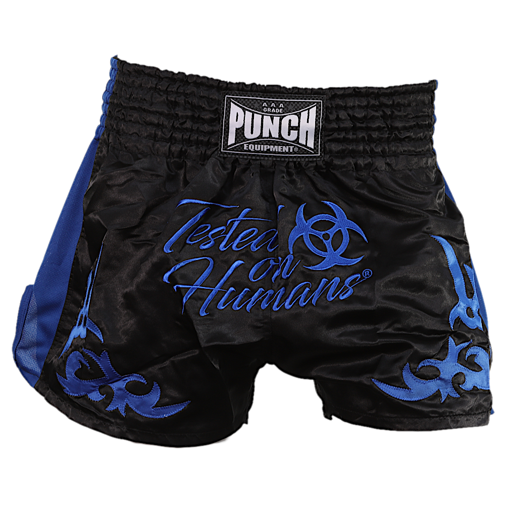 Blue Tested On Humans Thai Shorts 2
