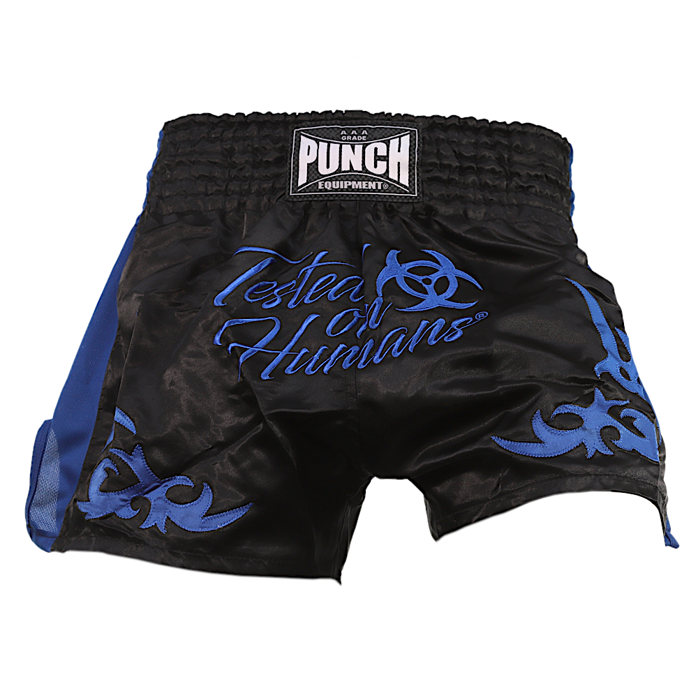 Blue Tested On Humans Thai Shorts 1