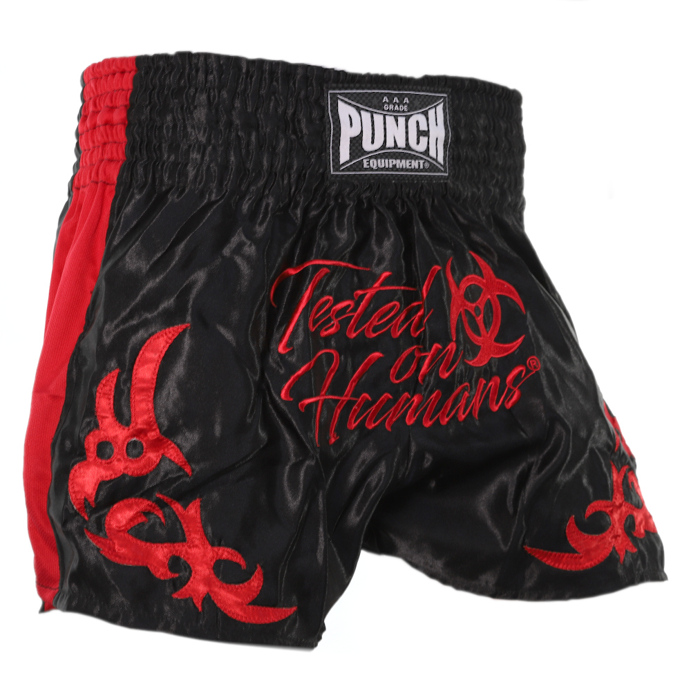 Red Tested On Humans Thai Shorts 4