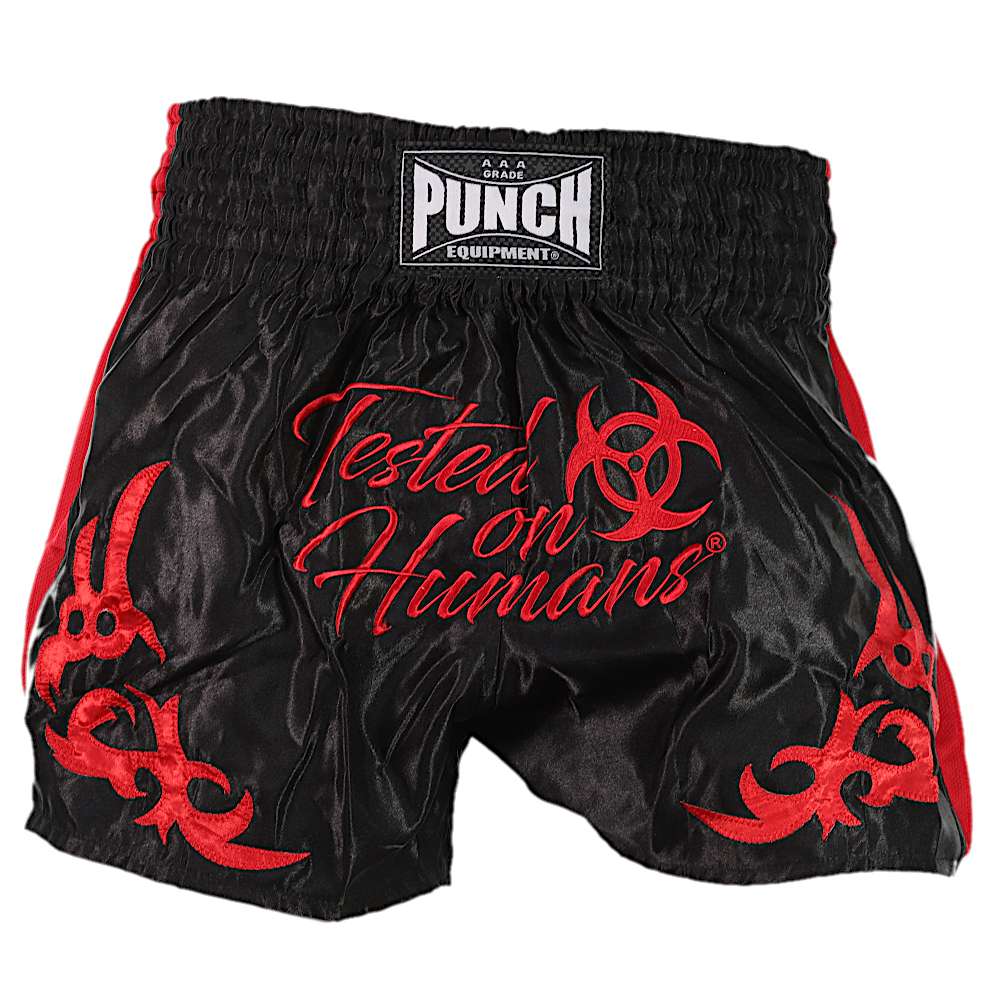 Red Tested On Humans Thai Shorts 3