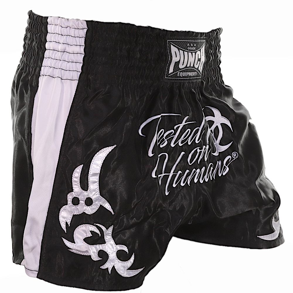 White Tested On Humans Thai Shorts 3